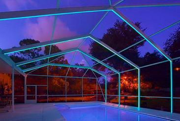 Starlite Pool Enclosure Lighting Paul Higginbottom A K